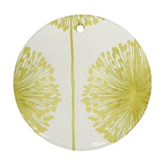 Flower Floral Yellow Ornament (Round)
