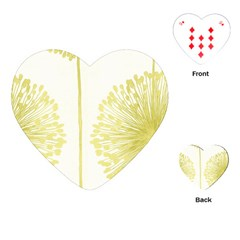Flower Floral Yellow Playing Cards (Heart)