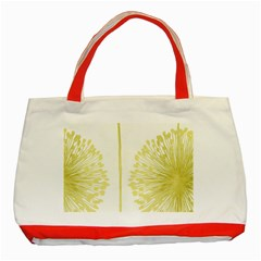 Flower Floral Yellow Classic Tote Bag (Red)