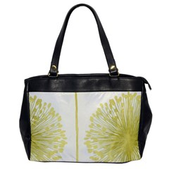 Flower Floral Yellow Office Handbags