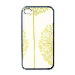 Flower Floral Yellow Apple iPhone 4 Case (Black)