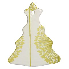 Flower Floral Yellow Christmas Tree Ornament (Two Sides)