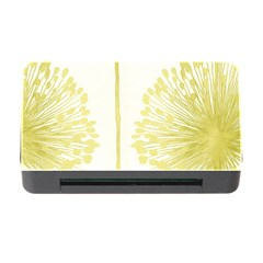 Flower Floral Yellow Memory Card Reader with CF