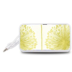 Flower Floral Yellow Portable Speaker (White)