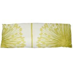 Flower Floral Yellow Body Pillow Case (Dakimakura)