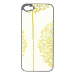 Flower Floral Yellow Apple iPhone 5 Case (Silver)