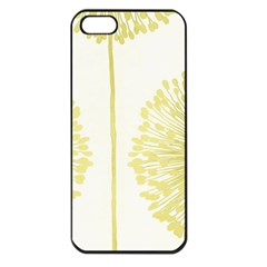 Flower Floral Yellow Apple iPhone 5 Seamless Case (Black)