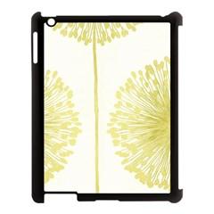 Flower Floral Yellow Apple iPad 3/4 Case (Black)