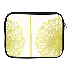 Flower Floral Yellow Apple iPad 2/3/4 Zipper Cases