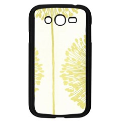 Flower Floral Yellow Samsung Galaxy Grand DUOS I9082 Case (Black)