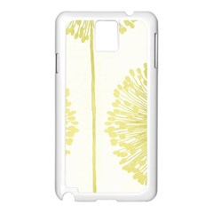 Flower Floral Yellow Samsung Galaxy Note 3 N9005 Case (White)