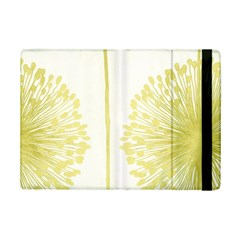 Flower Floral Yellow iPad Mini 2 Flip Cases