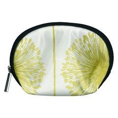 Flower Floral Yellow Accessory Pouches (Medium)