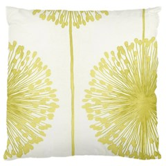 Flower Floral Yellow Standard Flano Cushion Case (One Side)