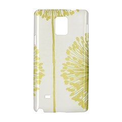 Flower Floral Yellow Samsung Galaxy Note 4 Hardshell Case