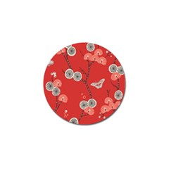 Dandelions Red Butterfly Flower Floral Golf Ball Marker (10 pack)