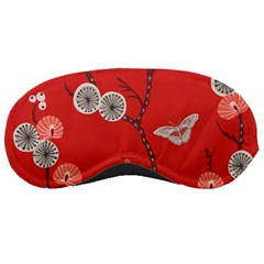 Dandelions Red Butterfly Flower Floral Sleeping Masks
