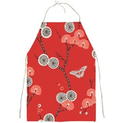 Dandelions Red Butterfly Flower Floral Full Print Aprons