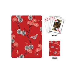 Dandelions Red Butterfly Flower Floral Playing Cards (Mini)