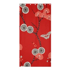 Dandelions Red Butterfly Flower Floral Shower Curtain 36  x 72  (Stall)
