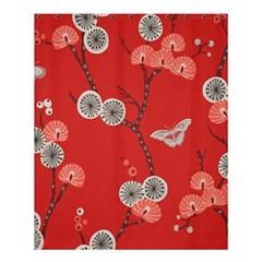 Dandelions Red Butterfly Flower Floral Shower Curtain 60  x 72  (Medium)