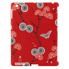 Dandelions Red Butterfly Flower Floral Apple iPad 3/4 Hardshell Case (Compatible with Smart Cover)