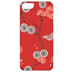Dandelions Red Butterfly Flower Floral Apple iPhone 5 Classic Hardshell Case