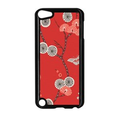 Dandelions Red Butterfly Flower Floral Apple iPod Touch 5 Case (Black)