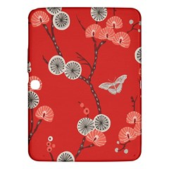 Dandelions Red Butterfly Flower Floral Samsung Galaxy Tab 3 (10 1 ) P5200 Hardshell Case
