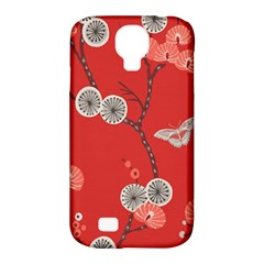 Dandelions Red Butterfly Flower Floral Samsung Galaxy S4 Classic Hardshell Case (PC+Silicone)