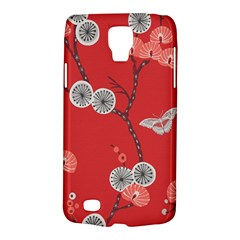 Dandelions Red Butterfly Flower Floral Galaxy S4 Active