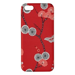 Dandelions Red Butterfly Flower Floral iPhone 5S/ SE Premium Hardshell Case