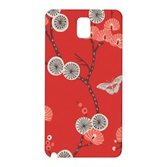 Dandelions Red Butterfly Flower Floral Samsung Galaxy Note 3 N9005 Hardshell Back Case