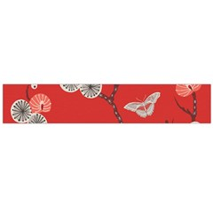 Dandelions Red Butterfly Flower Floral Flano Scarf (Large)