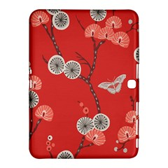 Dandelions Red Butterfly Flower Floral Samsung Galaxy Tab 4 (10.1 ) Hardshell Case