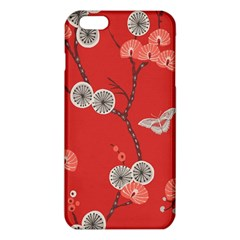 Dandelions Red Butterfly Flower Floral iPhone 6 Plus/6S Plus TPU Case