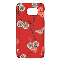 Dandelions Red Butterfly Flower Floral Galaxy S6