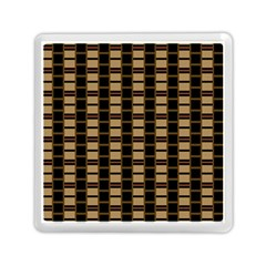 Geometric Shapes Plaid Line Memory Card Reader (Square)