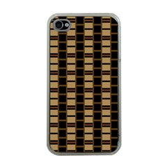 Geometric Shapes Plaid Line Apple iPhone 4 Case (Clear)