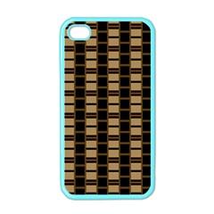 Geometric Shapes Plaid Line Apple iPhone 4 Case (Color)