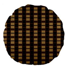 Geometric Shapes Plaid Line Large 18  Premium Flano Round Cushions