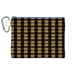 Geometric Shapes Plaid Line Canvas Cosmetic Bag (XL)