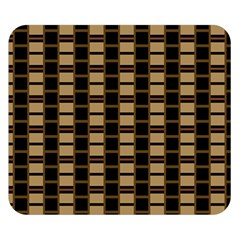 Geometric Shapes Plaid Line Double Sided Flano Blanket (Small)