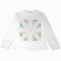 Frame Flower Floral Sunflower Line Kids Long Sleeve T Shirts