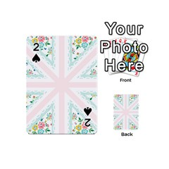 Frame Flower Floral Sunflower Line Playing Cards 54 (Mini)