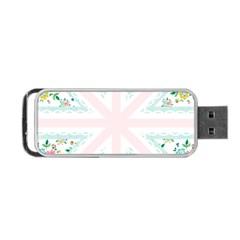 Frame Flower Floral Sunflower Line Portable USB Flash (One Side)