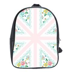 Frame Flower Floral Sunflower Line School Bags (XL)