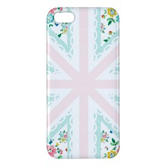 Frame Flower Floral Sunflower Line iPhone 5S/ SE Premium Hardshell Case