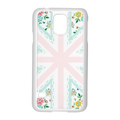 Frame Flower Floral Sunflower Line Samsung Galaxy S5 Case (White)
