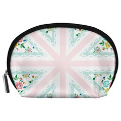 Frame Flower Floral Sunflower Line Accessory Pouches (Large)